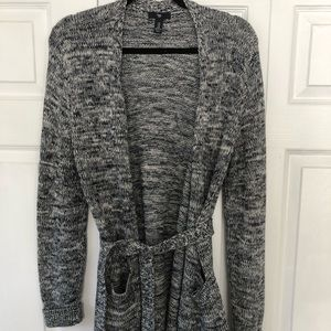 Gap cotton open front cardigan belted